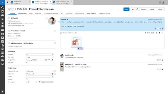 Screenshot Incident Management