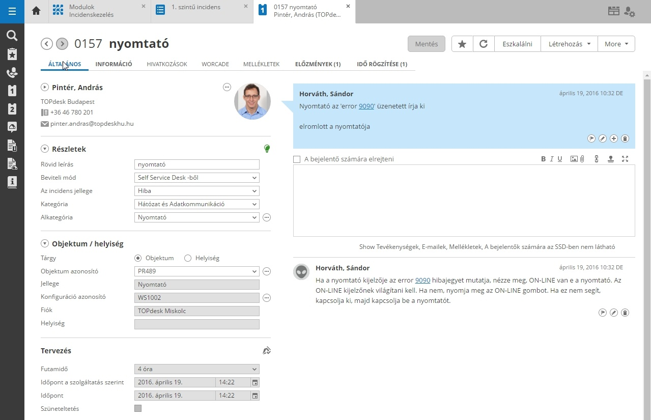 ITSM call management with TOPdesk