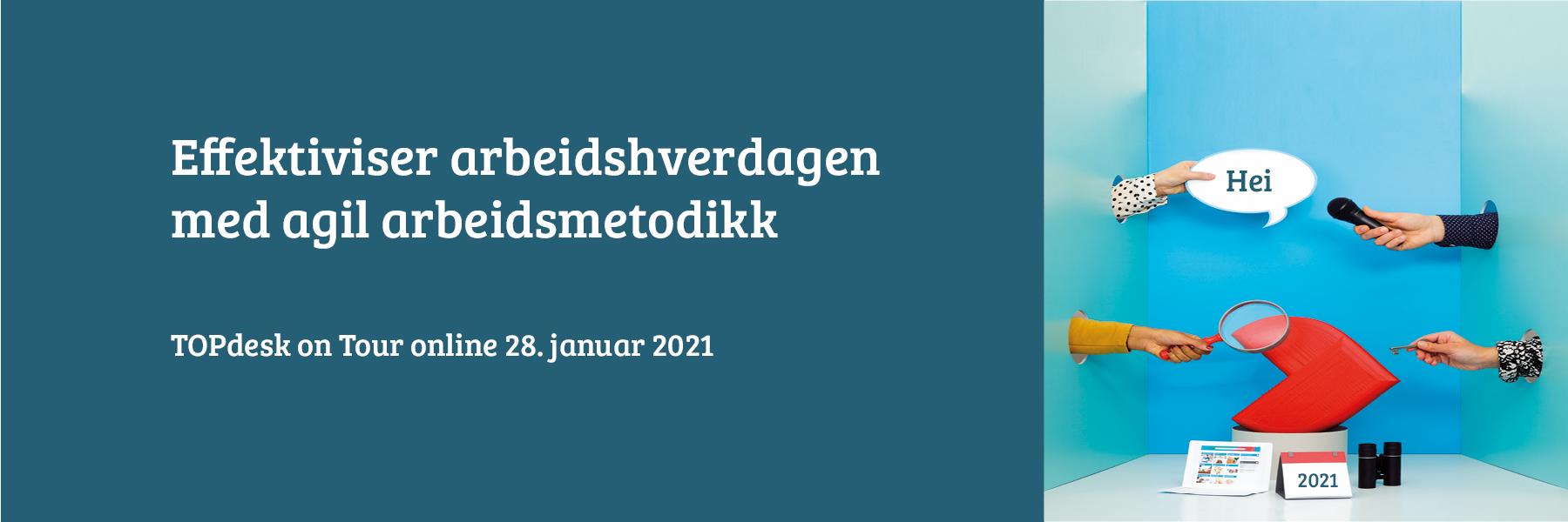 TOPdesk on Tour online 2021 banner til påmeldingsside_agile arbeidsmetodikk